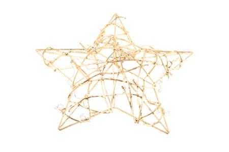 Gold star on white background