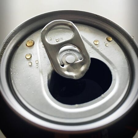 shiny: Drops on a can of soda