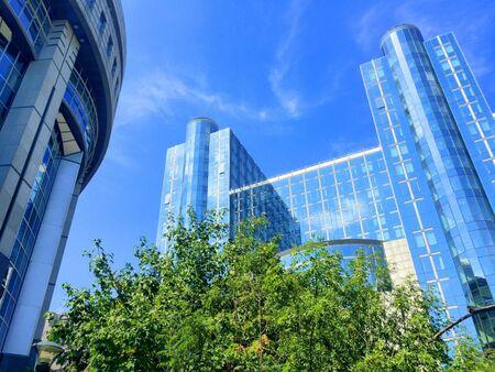 office buildings: Office buildings in the European Parliament in European district in Brussels, Belgium Stock Photo