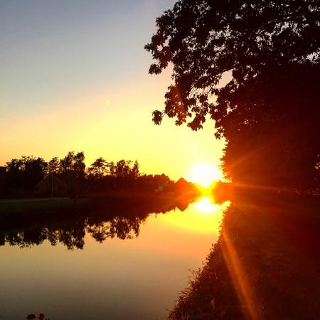 non: Dramatic Countryside sunrise