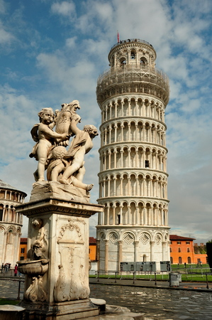 campanille: Leaning Tower,Pisa Italy Stock Photo