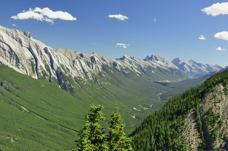 banff: Beautiful valley in Banff National park Stock Photo