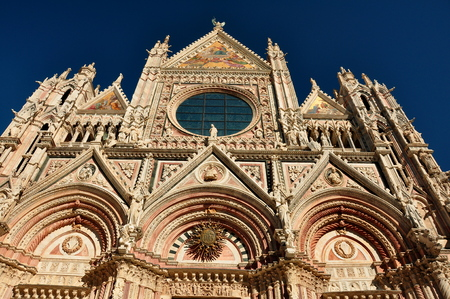 siena italy: Abstract view of the church in Siena Italy in Tuscany Stock Photo