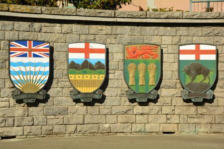 Coat of arms for Canadian provinces, British Columbia, Alberta, Saskatchewan and Manitoba