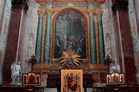 Angeli: Inside the church of Santa Maria degli angeli Rome Italy Editorial