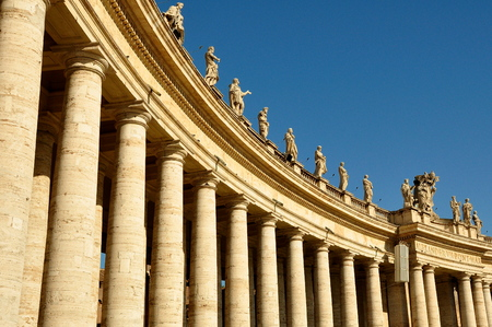 bernini: Colonnades of the Vatican as designed by Bernini master of the Baroque. Editorial