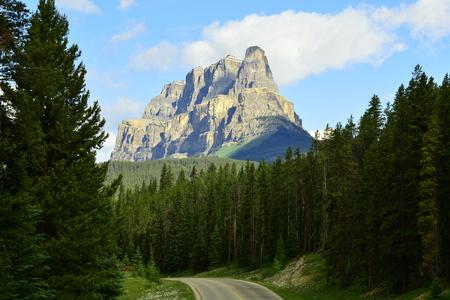 rugged terrain: Cascade mountain Banff National Park,Alberta Canada.