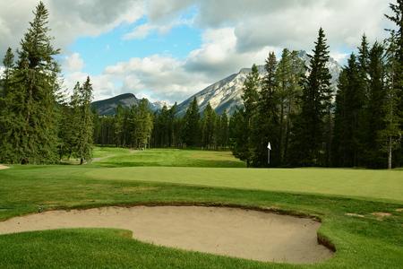 banff: Banff Springs golf course,Alberta Canada. Stock Photo