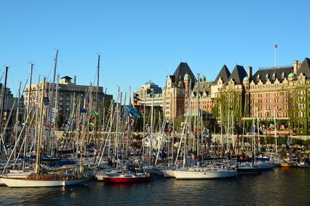 Inner harbor in Victoria British Columbia Canada