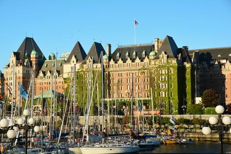 victoria bc: Inner harbor and Empress hotel Victoria BC,Canada