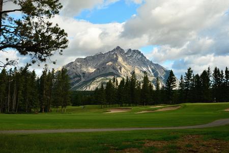 banff: Banff Springs golf course,Banff National Park,Alberta Canada. Stock Photo