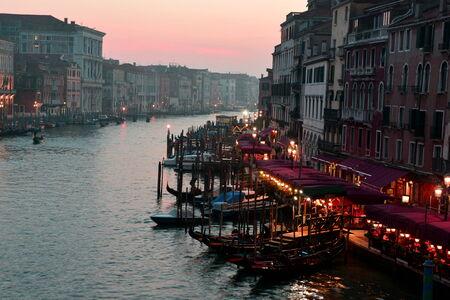 rialto bridge: Venice Italy and the Grand Canal seen from the famous Rialto bridge.