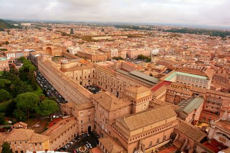 recluse: Vatican museum as seen from atop of Michelangelos dome,Vatican city,Rome Italy. Editorial