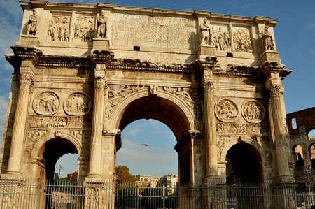 constantine: The Arch of Constantine,Rome Italy.
