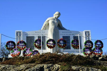 victoria bc: War memorial, Remembrance day, Victoria BC, Canada.