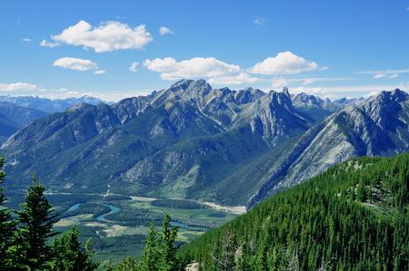 banff: Mountain vista seen from Sulfur mountain, Banff National Park,Canada.