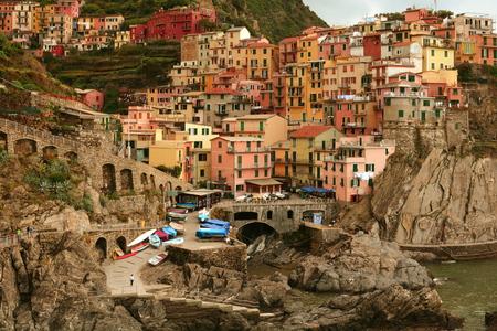 cinque: Cinque Terre town of Manarola  Italy