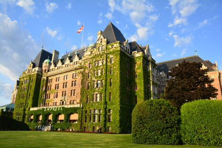 Empress Hotel, Victoria BC, Canada.This classic hotel is across from Victorias famous inner harbor.