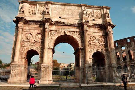 rome italy: The Arch of Constantine,Rome Italy.