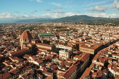 rooftops: The skyline and rooftops of Florence Italy.