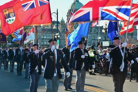 victoria bc: Remembrance Day,Victoria BC,Canada,November 11th 2014.