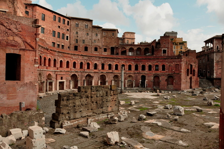 rome italy: Hadrians market, Roman forun, Rome Italy