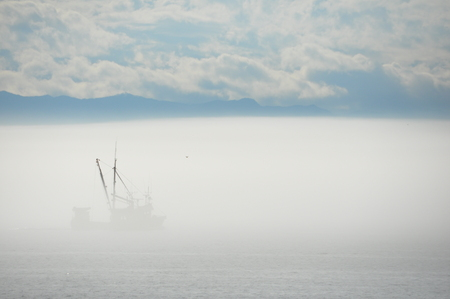 into: Sailing into the Mist tique Stock Photo