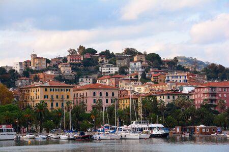 pleasure craft: Seaside town of La Spezia Italy in the region of Liguria.
