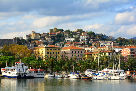 seaside town: Seaside town of La Spezia Italy in the Liguria region.