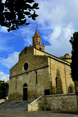 abruzzo: The church in Teramo Italy in the Abruzzo region. Stock Photo