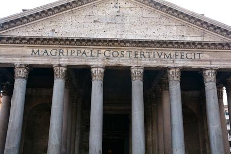 rome italie: fa�ade de Panth�on, Rome Italie