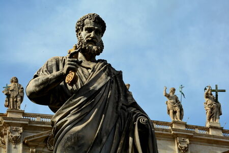 vatican city: Statue of St.Peter,Vatican City,Rome Italy.
