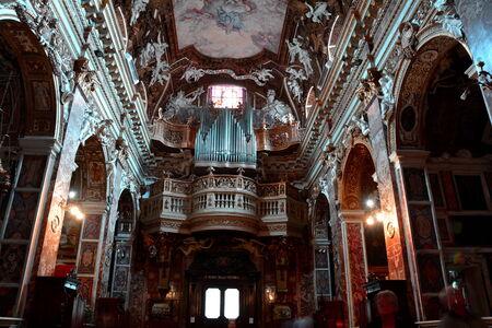Inside the church of Santa Maria della Vittoria, Rome Italy
