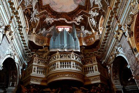 Inside the church of Santa Maria della Vittoria, Rome Italy.