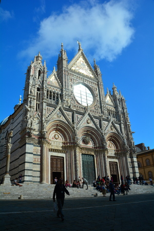 siena italy: The church in Siena Italy. Stock Photo