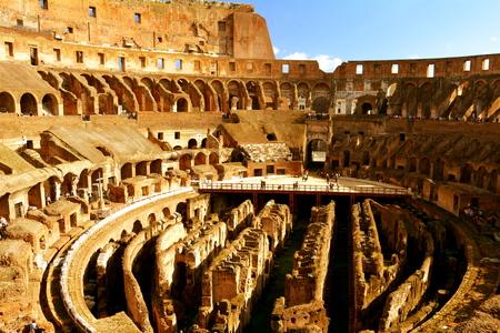 rome italy: Roman Colosseum interior,Rome Italy.