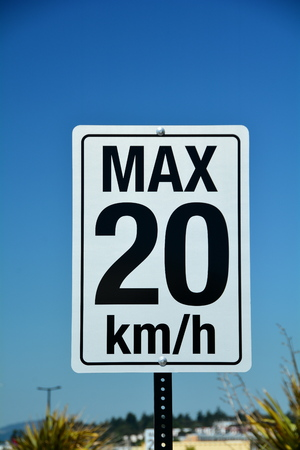 obey: Speed limit sign.Traffic speed sign Stock Photo