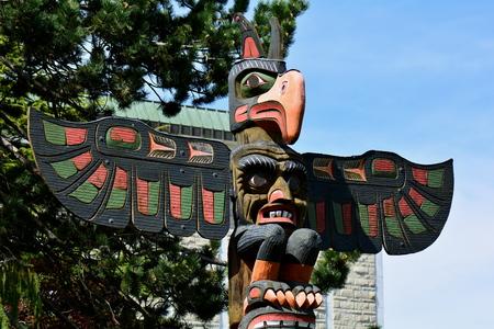 victoria bc: Thunderbird Park and its totems,Victoria BC,Canada