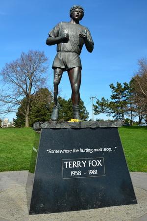 victoria bc: Terry Fox memorial Victoria BC,Canada. Editorial