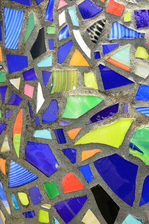 Abstract stained glass design Imagens