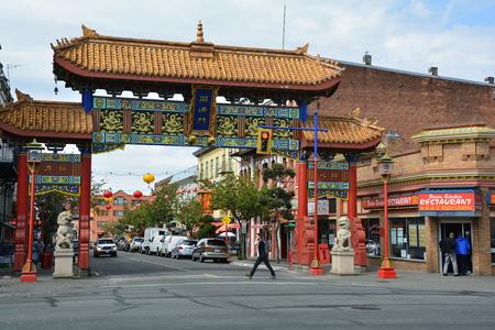 victoria bc: Gates of Harmonius Interest, Chinatown, Victoria BC, Canada.