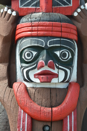 honoring: Wooden Totem carving