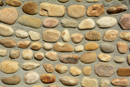 photos of pattern: Patterned rock wall