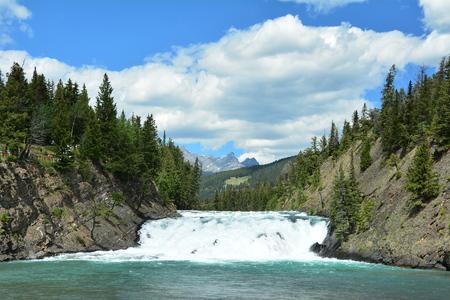 alberta: Bow Falls,Banff National Park,Alberta Canada. Stock Photo