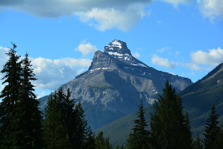 Mountain landscapes in Banff National Park.