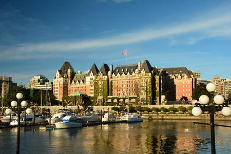 victoria bc: Inner harbor in Victoria BC Canada Stock Photo