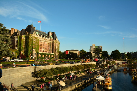 The iconic Empress Hotel in Victoria BC Canada