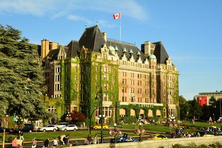 victoria bc: The iconic Empress hotel in Victoria BC Canada.