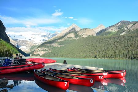 banff: Lake Louise Alberta Canada in Banff National park