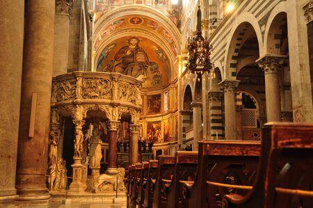Church interior in Pisa Italy